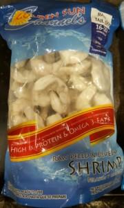 shrimp p&d tail off retail bag